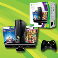Xbox 360® 4GB Holiday Value-pakke med Kinect