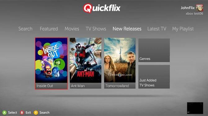 Quickflix on Xbox360