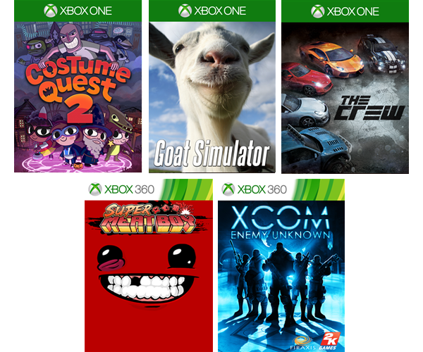 This month's games