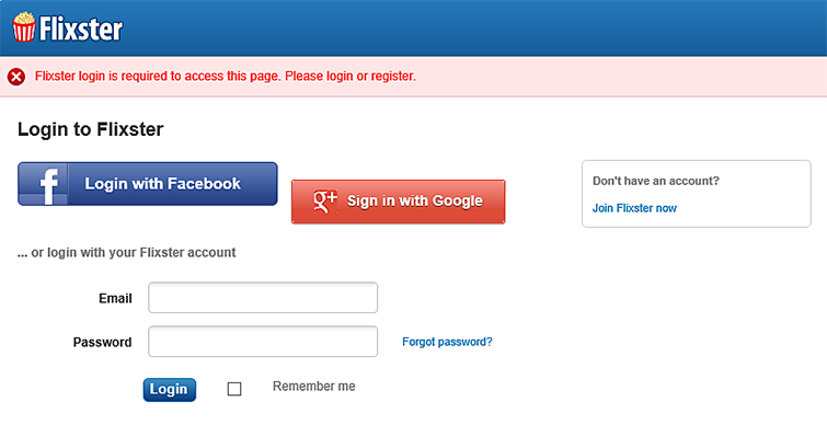 Account you can create one for free click join flixster now