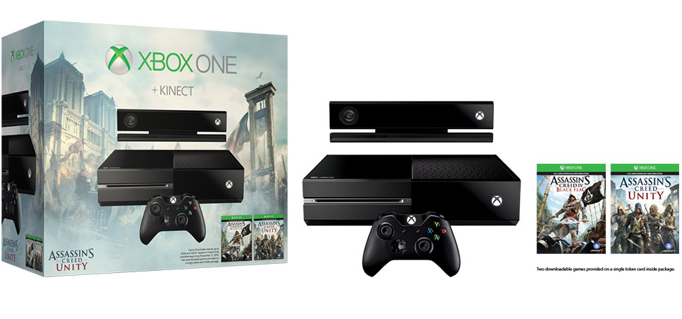 Xbox One with Kinect Assassins Creed Unity Bundle banner