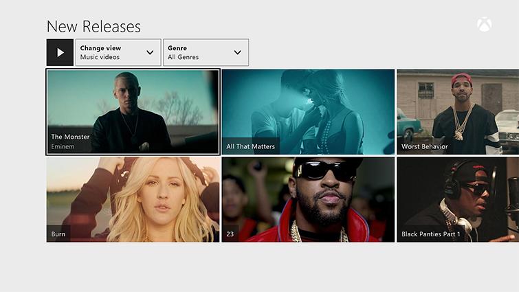 La pantalla Nuevos lanzamientos en Groove