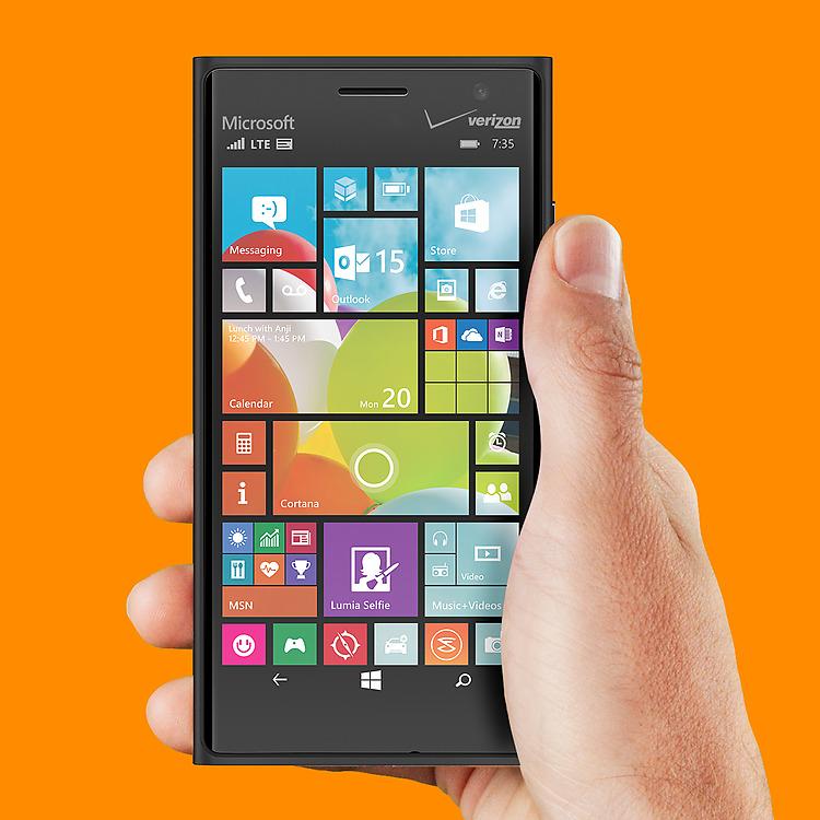 Lumia 735 product page