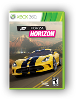 Forza Horizon Xbox 360 game box