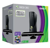 Xbox 360 with Kinectnow with three great games!