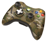 Xbox 360 Special Edition Camouflage   tr&#229;dl&#248;s controller
