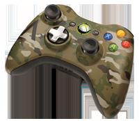 Коллекционный беспроводной геймпад Xbox 360 в камуфляже
