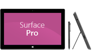 Surface Pro : delantera y lateral