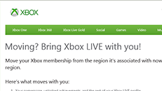 Change the region of your Xbox Live account