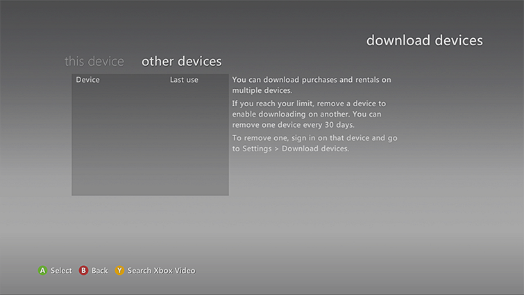The 'other devices' tab is selected on the download devices screen.