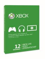 Xbox Live Gold-lidmaatschapskaart voor 12 maanden