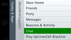 Xbox Live chat on the Xbox 360 console