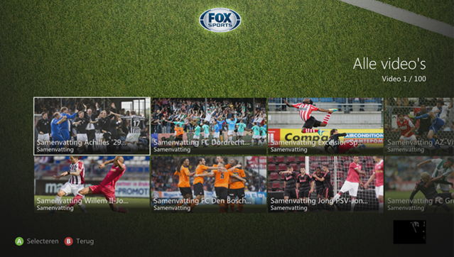 Bekijk live voetbalwedstrijden op je Xbox