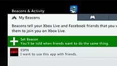 Set Xbox Live Beacons on your Xbox 360