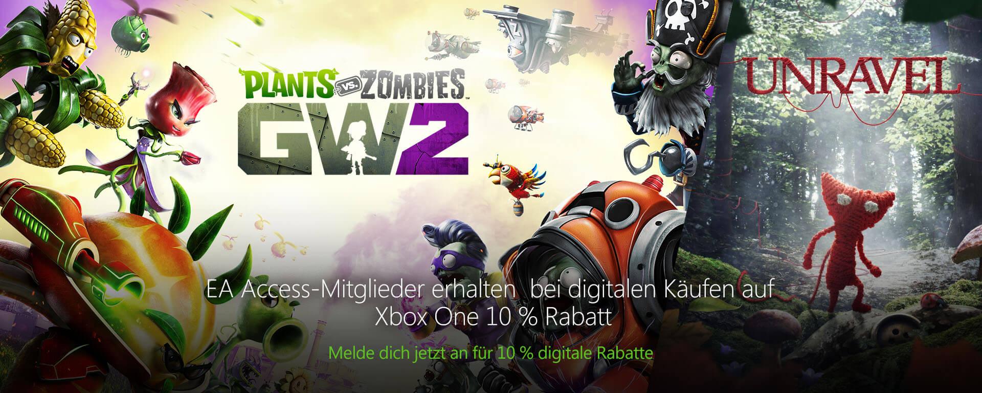 Plants vs Zombies: Garden Warfare 2   Unravel   EA Access   Xbox One