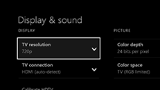 How to change the display resolution for your TV on Xbox One