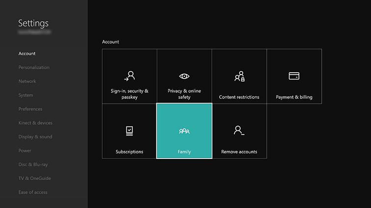 xbox live user settings