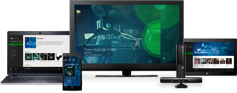 Xbox Music goes native on iOS and Android devices