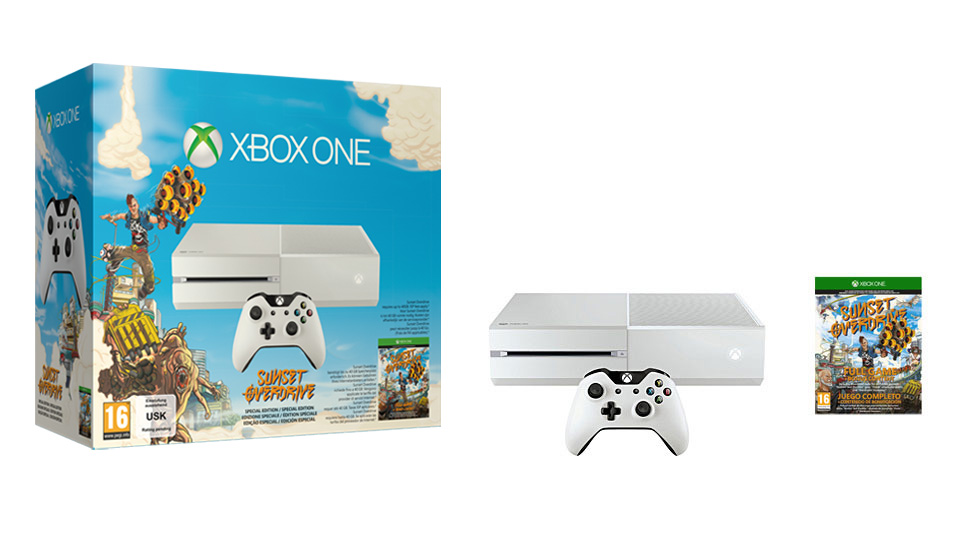 Xbox One Special Edition Xbox One White Console Sunset Overdrive
