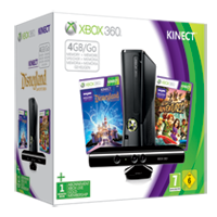 Pacchetto Xbox 360® 4GB Kinect Holiday Value