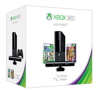 Paquete Xbox 360 4GB Kinect